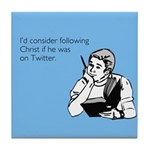 Christ Twitter Tile Coaster