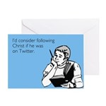 Christ Twitter Greeting Card