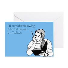 Christ Twitter Greeting Card