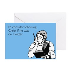 Christ Twitter Greeting Cards (Pk of 20)