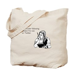 Christ Twitter Tote Bag