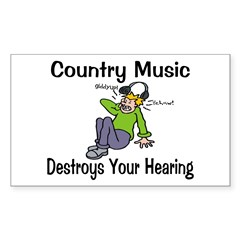 Country Music Sticker (Rectangle 10 pk)