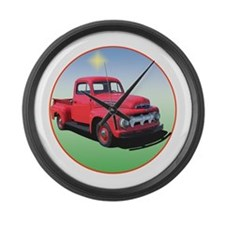 Truck farming Large Wall Clock
