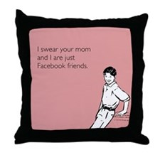 Mom Facebook Throw Pillow