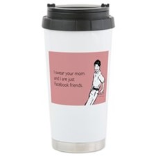 Mom Facebook Stainless Steel Travel Mug