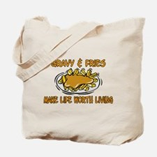 Gravy And Fries Tote Bag