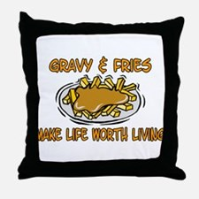 Gravy And Fries Throw Pillow
