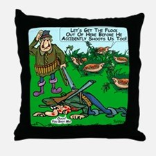 Dick Cheney Shooting Accident Throw Pillow