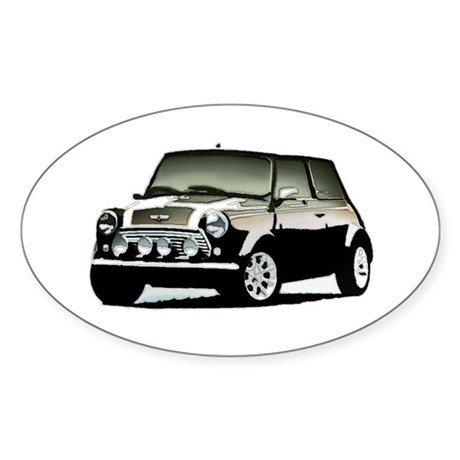 Mini Maniac Oval Sticker