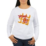 Get Down (squares design) Women's Long Sleeve T-Sh
