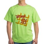Get Down (squares design) Green T-Shirt