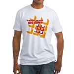 Get Down (squares design) Fitted T-Shirt