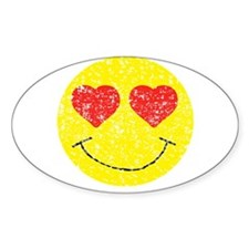 Vintage In Love Smiley 2 Decal