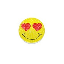 Vintage In Love Smiley 2 Mini Button (10 pack)