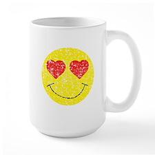Vintage In Love Smiley 2 Mug