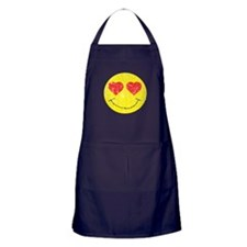 Vintage In Love Smiley 2 Apron (dark)