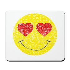 Vintage In Love Smiley 2 Mousepad