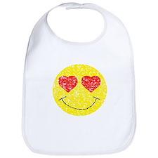 Vintage In Love Smiley 2 Bib