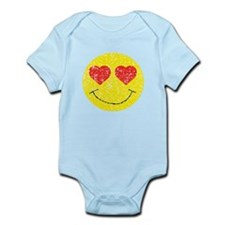Vintage In Love Smiley 2 Infant Bodysuit