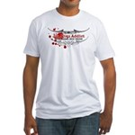 Tap Arms, Not Veins BJJ Fitted T-Shirt