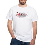 Tap Arms, Not Veins BJJ White T-Shirt