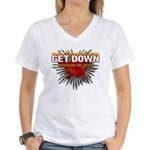 Get Down Women's V-Neck T-Shirt