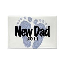 New Dad 2011 (Boy) Rectangle Magnet