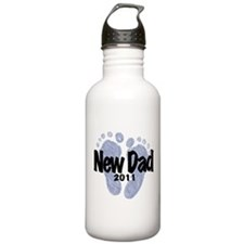 New Dad 2011 (Boy) Water Bottle