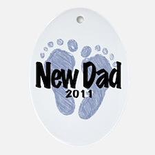 New Dad 2011 (Boy) Ornament (Oval)