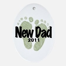 New Dad 2011 (Unisex) Ornament (Oval)
