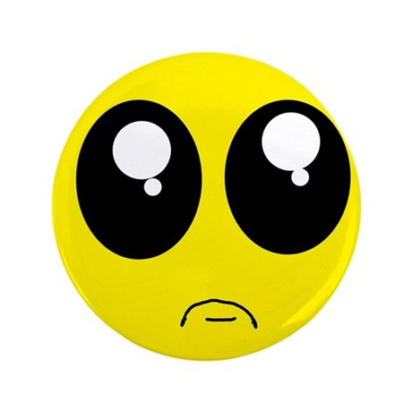 "Pouting Smiley 3.5"" Button (100 pack)"