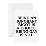 Being an ignorant bigot Greeting Cards (Pk of 20)