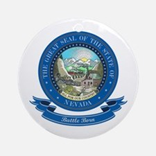 Nevada Seal Ornament (Round)