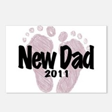 New Dad 2011 (Girl) Postcards (Package of 8)
