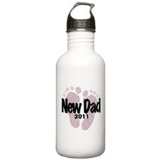 New Dad 2011 (Girl) Water Bottle