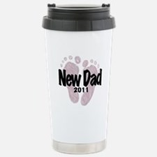 New Dad 2011 (Girl) Travel Mug