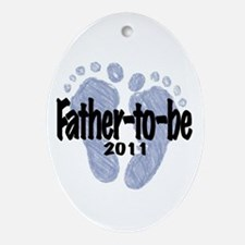Father to Be 2011 (Boy) Ornament (Oval)