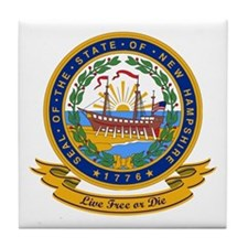 New Hampshire Seal Tile Coaster