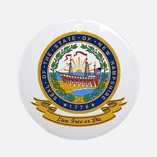 New Hampshire Seal Ornament (Round)