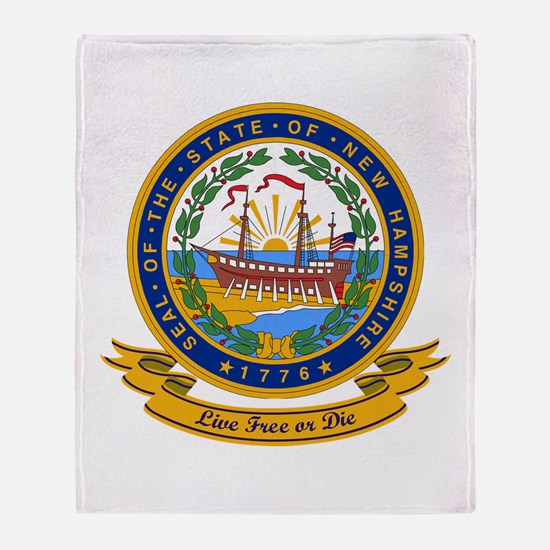 New Hampshire Seal Throw Blanket