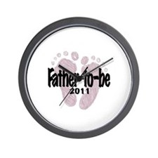 Father to Be 2011 (Girl) Wall Clock