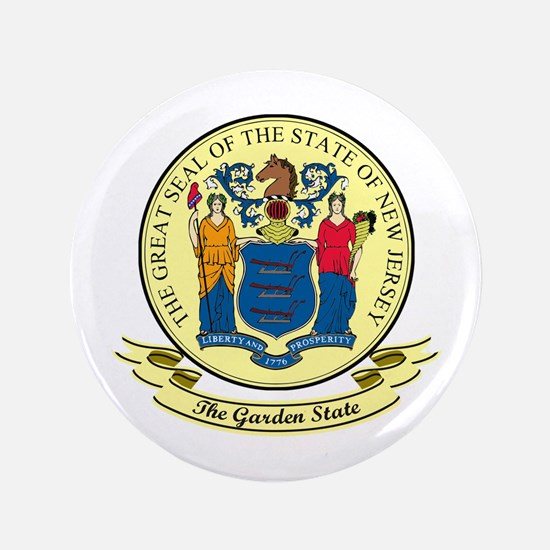 """New Jersey Seal 3.5"""" Button"""