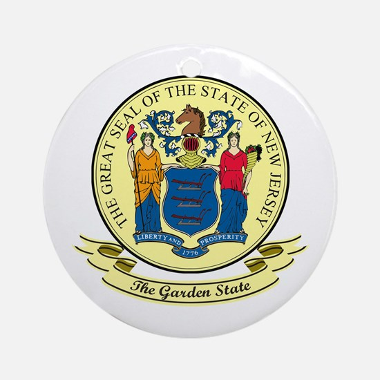 New Jersey Seal Ornament (Round)
