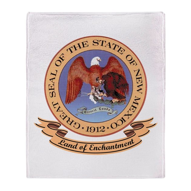 New Mexico Seal Throw Blanket By Nativeson2