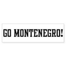 Go Montenegro! Bumper Bumper Sticker