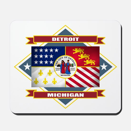 Detroit Flag Mousepad