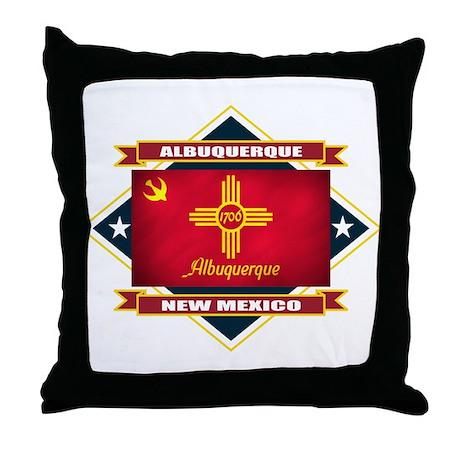 Albuquerque Flag Throw Pillow