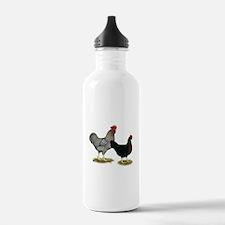 Black Sex-linked Chicken Pair Water Bottle
