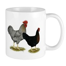 Black Sex-linked Chicken Pair Mug
