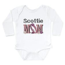 Scottish Terrier MOM Long Sleeve Infant Bodysuit